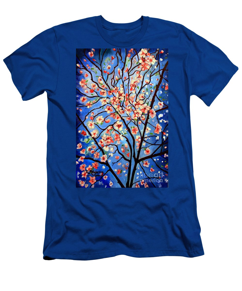Cherry Blossoms Men's T-Shirt (Athletic Fit) featuring the painting Whimsical by Elizabeth Robinette Tyndall