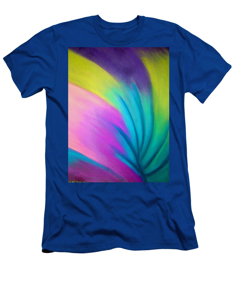 Pastel; Colors; Abstract Drawing Men's T-Shirt (Athletic Fit) featuring the drawing Whirlwind by Jan Gilmore