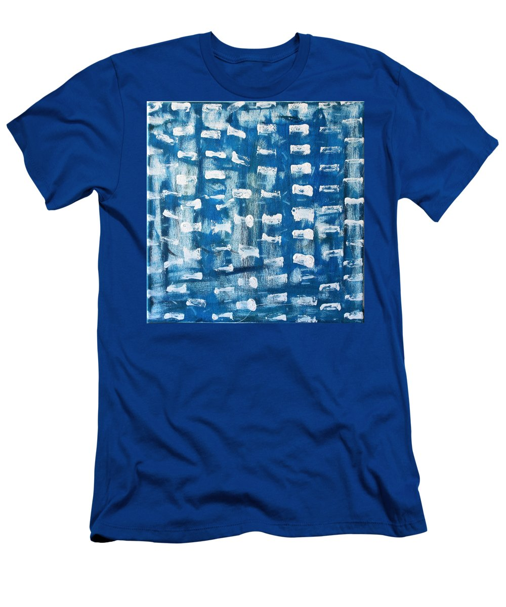 Blue T-Shirt featuring the painting Whispering Pines by Pam Roth O'Mara