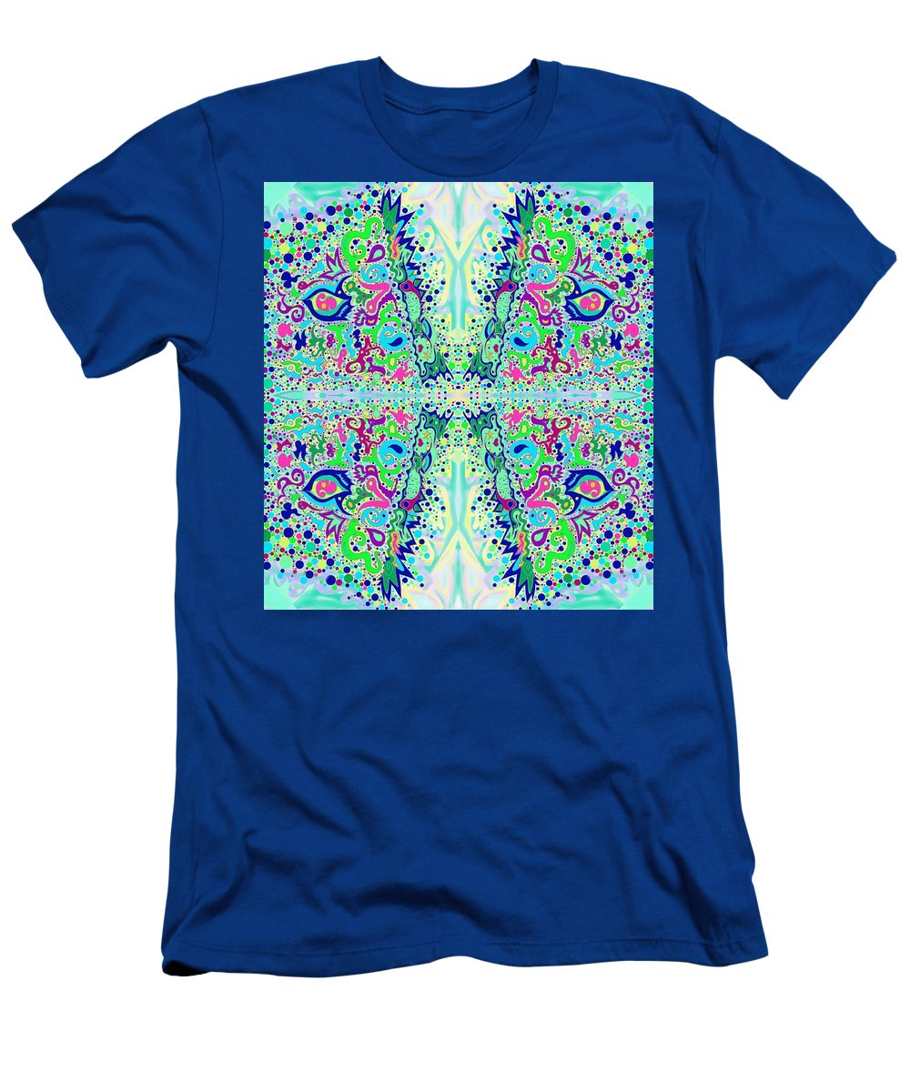 Wild Men's T-Shirt (Athletic Fit) featuring the drawing Wild Island Creation 1 Fractal B by Julia Woodman