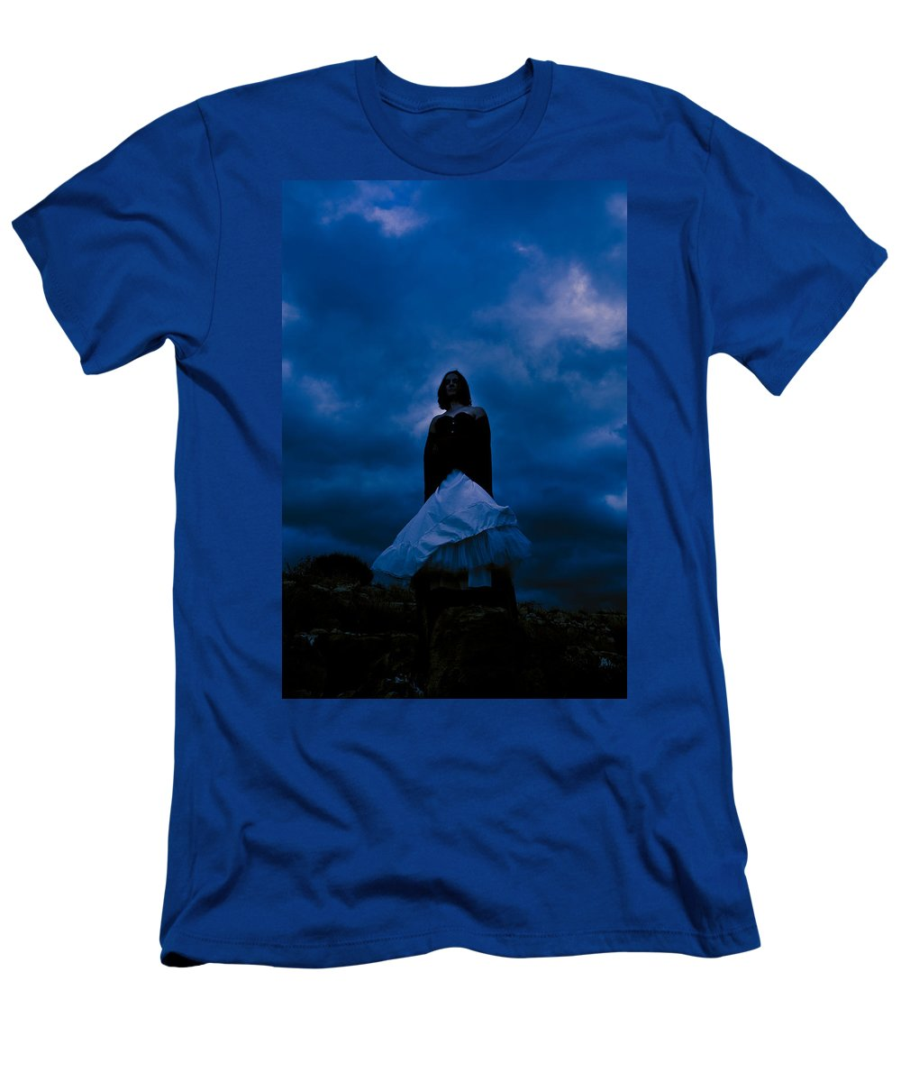 Mystery Men's T-Shirt (Athletic Fit) featuring the photograph Windy Mistery by Scott Sawyer