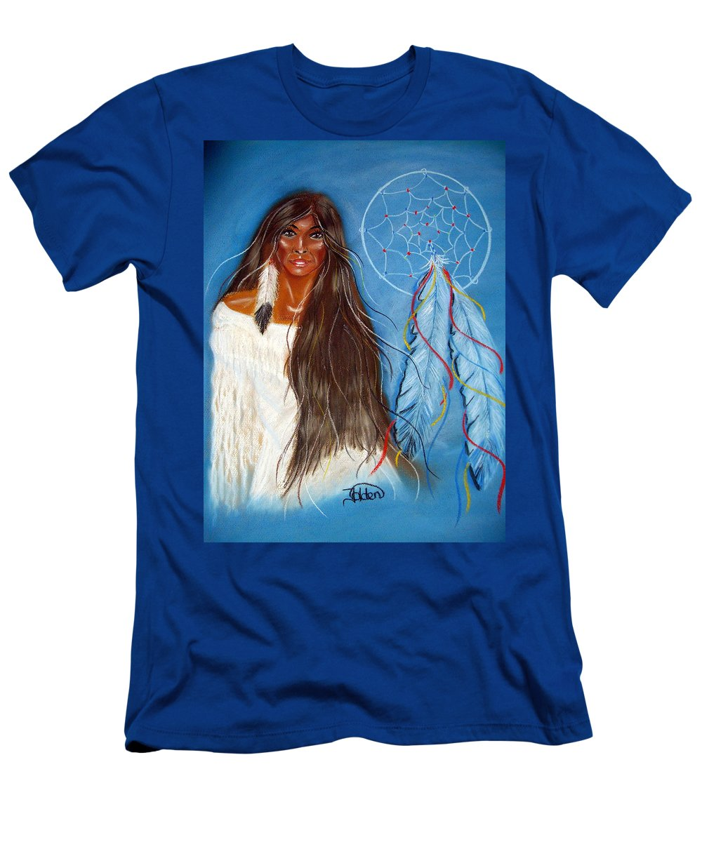 Wolf Men's T-Shirt (Athletic Fit) featuring the pastel Wolf Woman by Jo Hoden