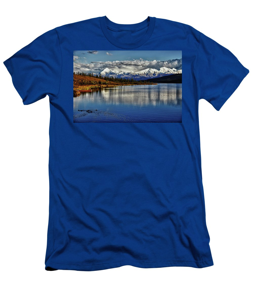 Denali Men's T-Shirt (Athletic Fit) featuring the photograph Wonder Lake IIi by Rick Berk