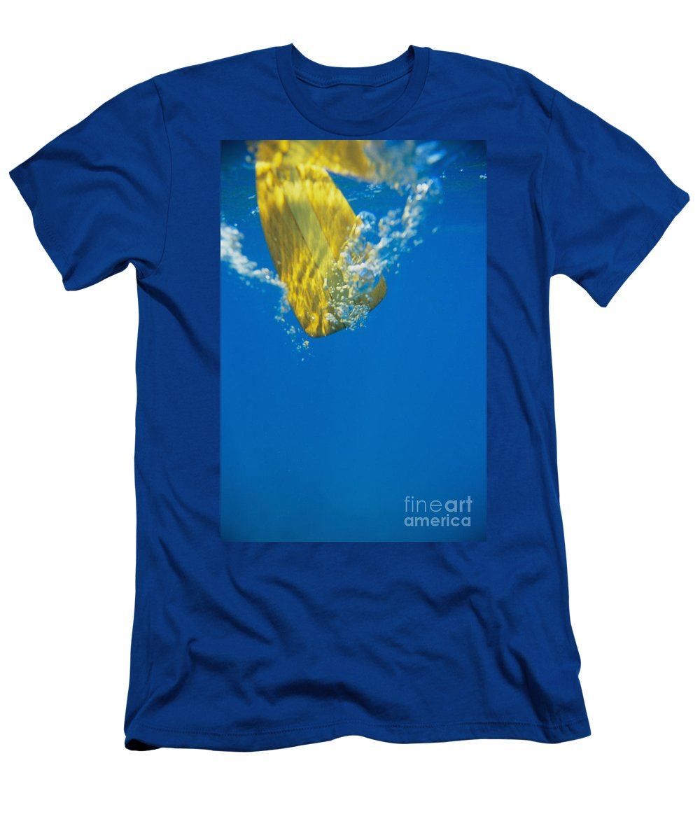 Abstract Men's T-Shirt (Athletic Fit) featuring the photograph Wooden Paddle Underwater by Joss - Printscapes