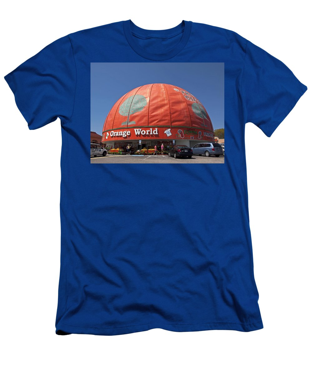 Orange Men's T-Shirt (Athletic Fit) featuring the photograph World's Largest Orange by Allan Hughes
