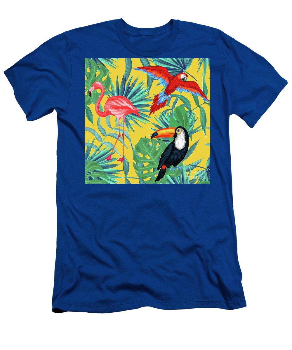 Parrot T-Shirt featuring the digital art Yellow Tropic by Mark Ashkenazi