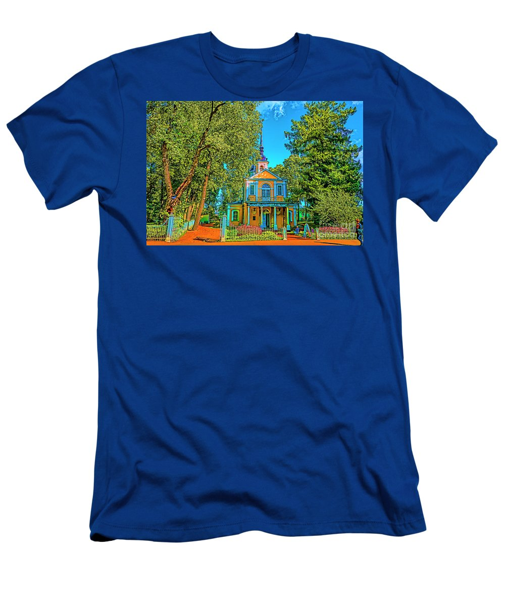 St Petersburg Small Holmes Men's T-Shirt (Athletic Fit) featuring the photograph Small House by Rick Bragan