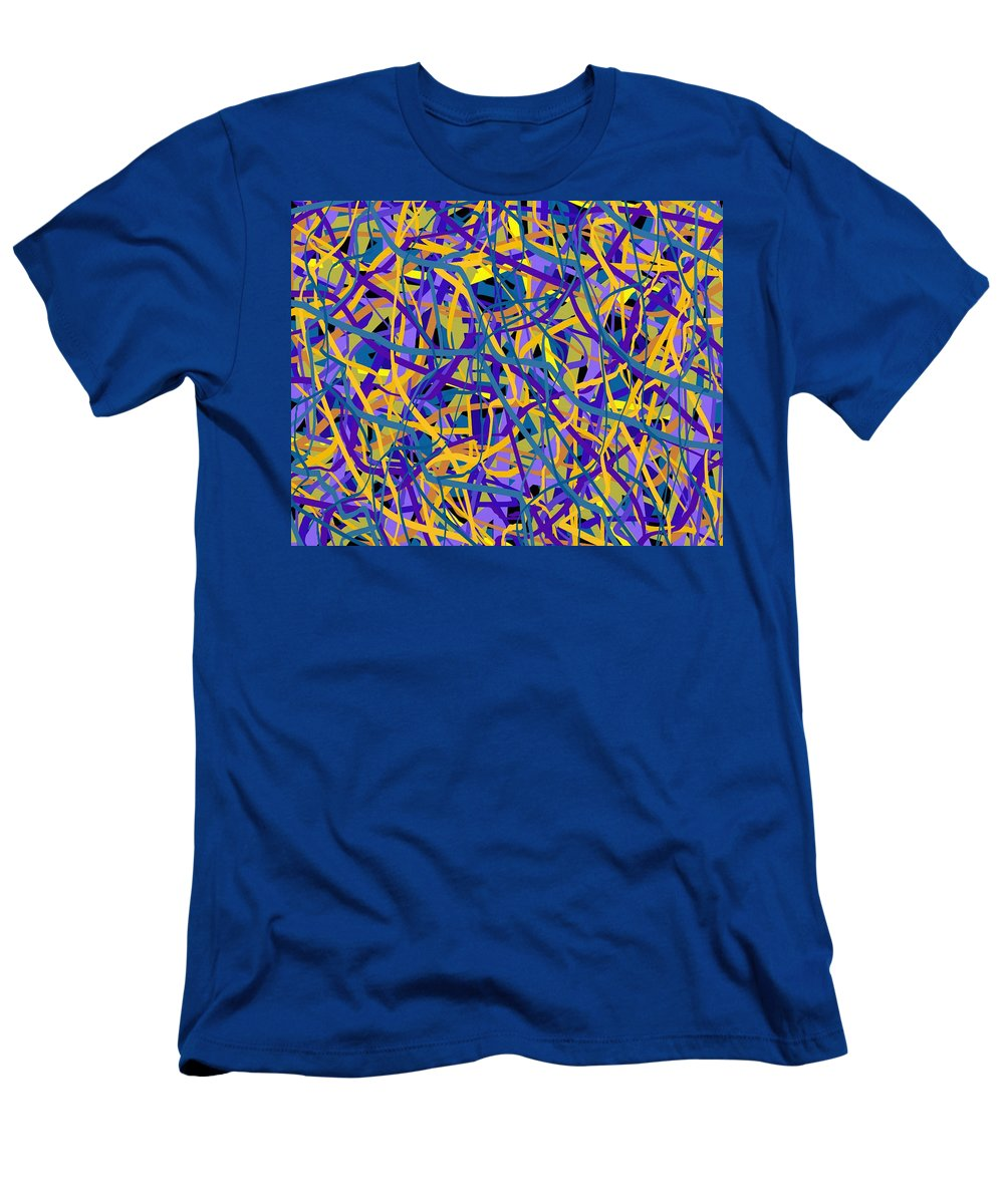 Abstract Art Men's T-Shirt (Athletic Fit) featuring the digital art 1924 by Ely Arsha