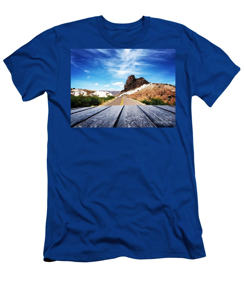 T-Shirt featuring the photograph Above The Road by Andres Cavazos