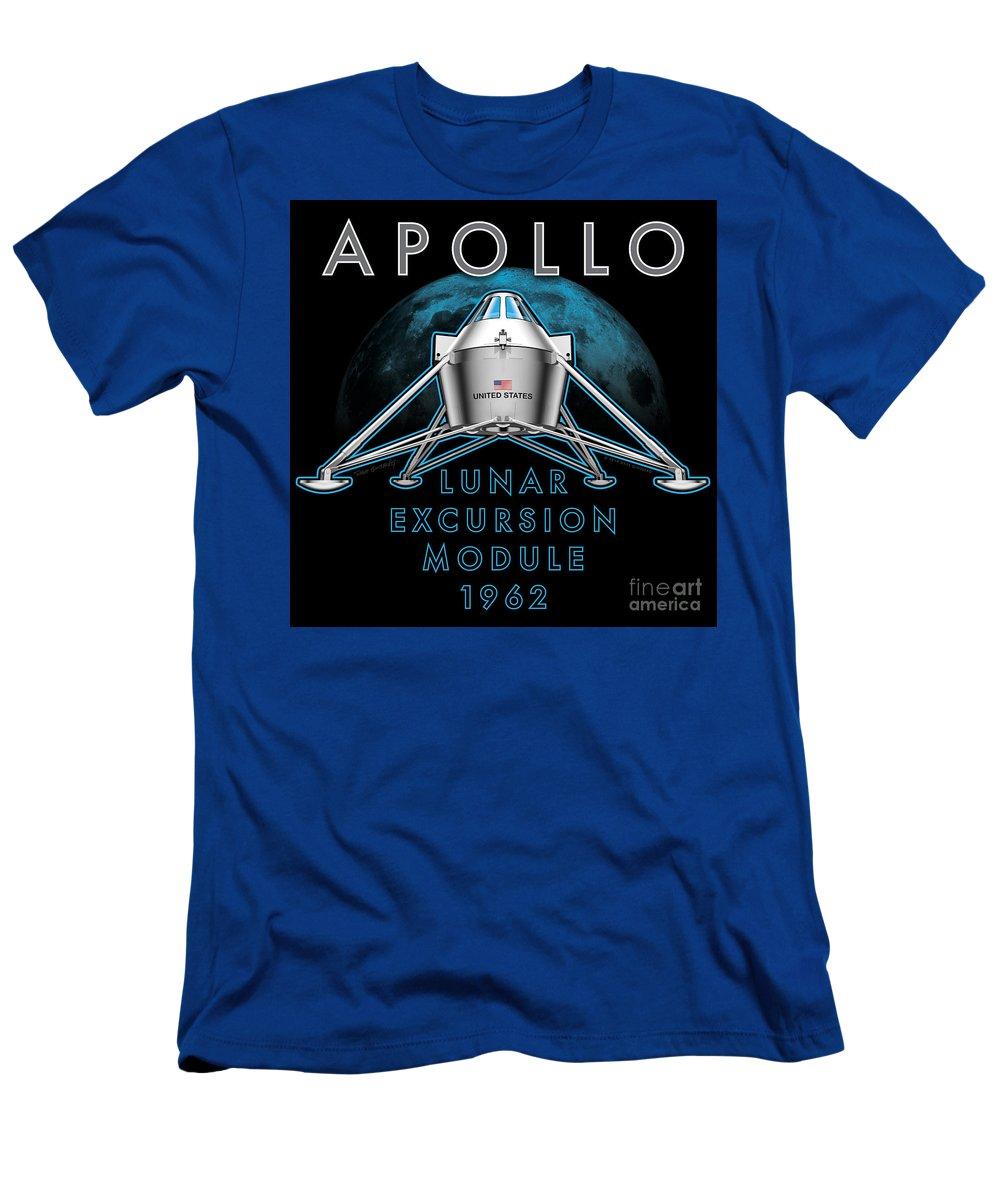 Apollo T-Shirt featuring the digital art Apollo Lunar Excursion Module 1962 by Dave Ginsberg