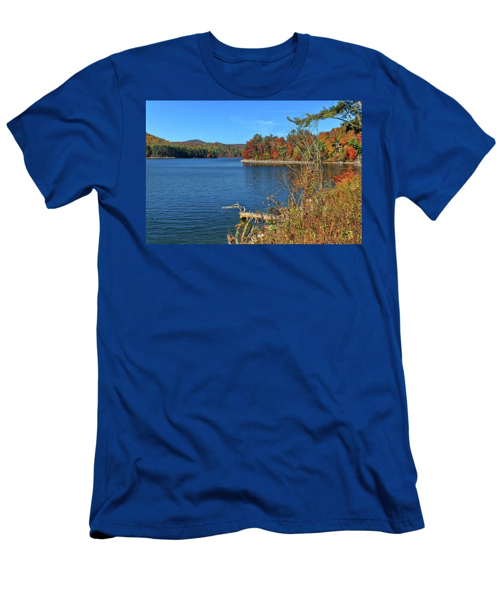 Lake Glenville T-Shirt featuring the photograph Autumn In North Carolina by HH Photography of Florida