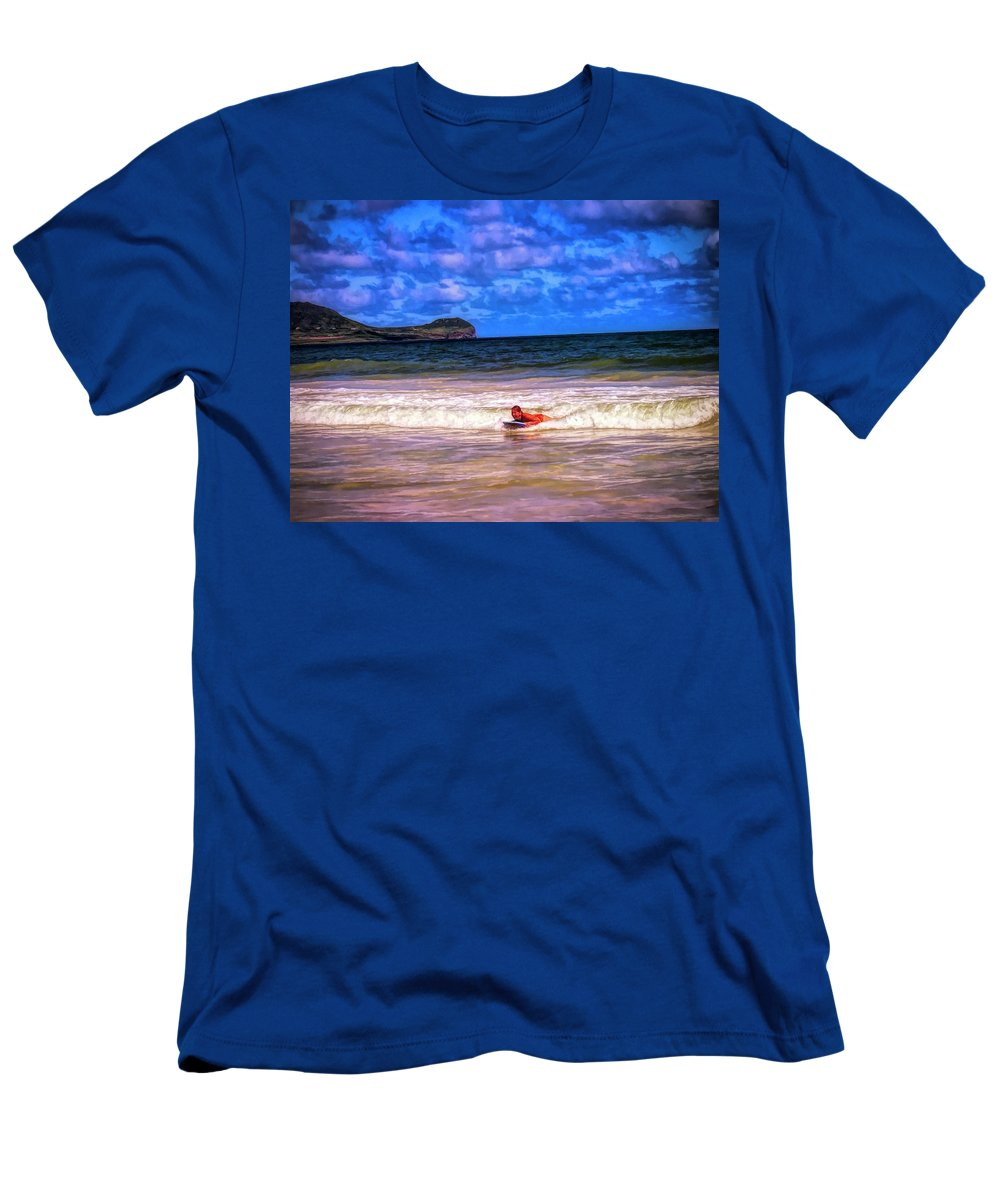 #boogie Board Men's T-Shirt (Athletic Fit) featuring the photograph Boogie Fever by Cornelia DeDona