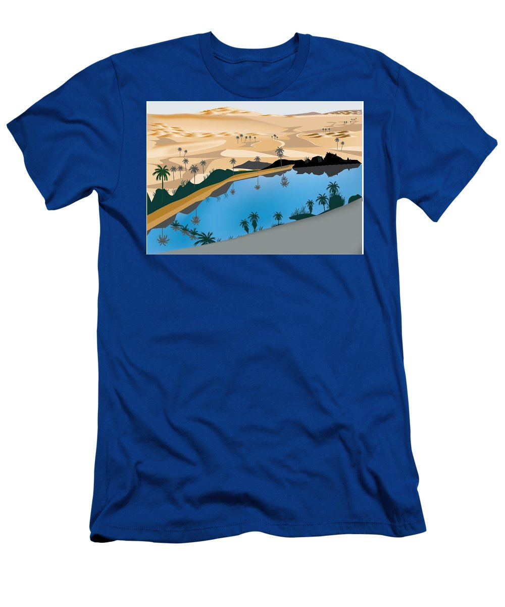 Men's T-Shirt (Athletic Fit) featuring the digital art caber own Oasis by Hadi Own