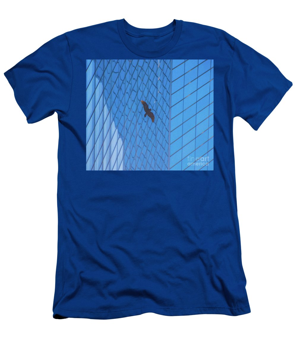 Bird Men's T-Shirt (Athletic Fit) featuring the photograph Flying Abstract by D Davila