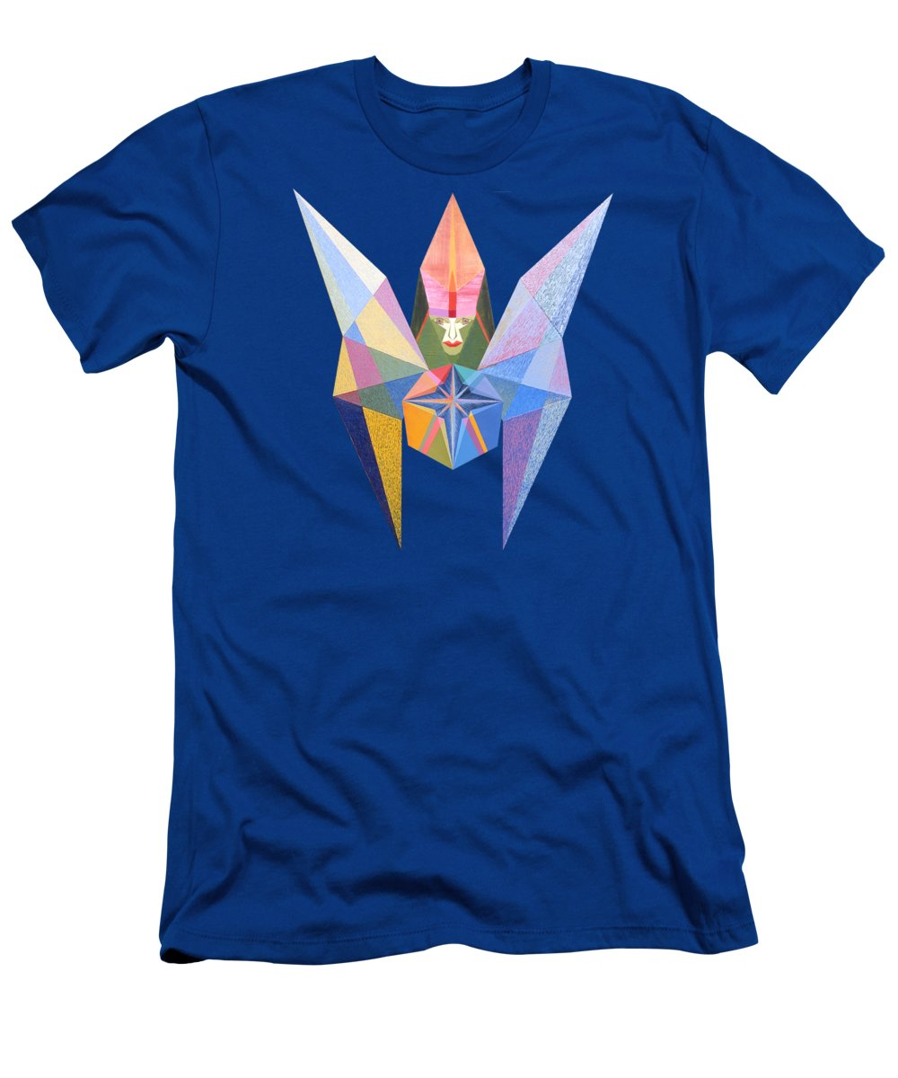 Art T-Shirt featuring the painting Flying Temperance Star by Michael Bellon
