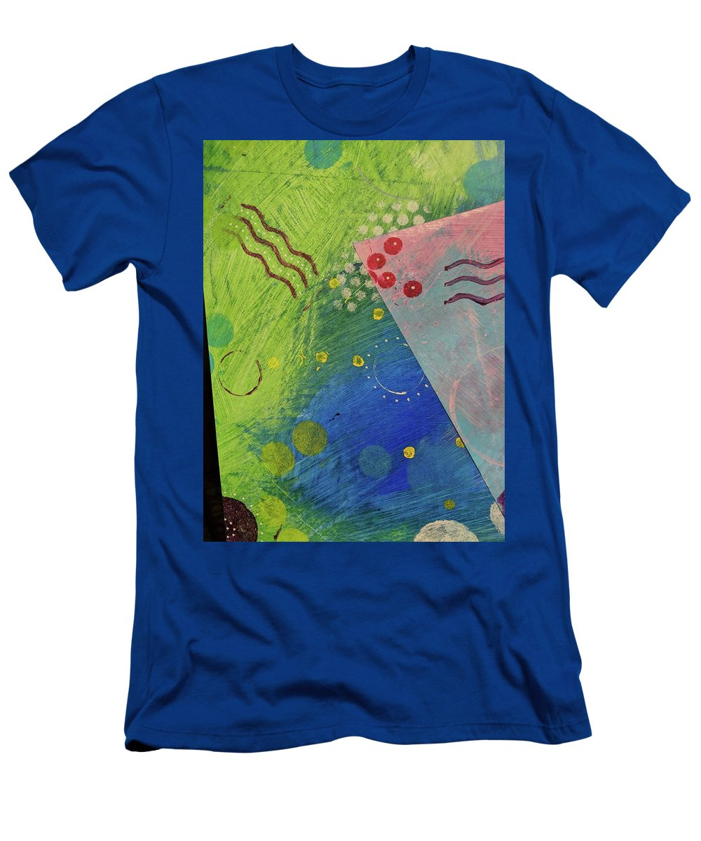 Abstract Men's T-Shirt (Athletic Fit) featuring the painting Free Form 1 by Vancouver Art Space