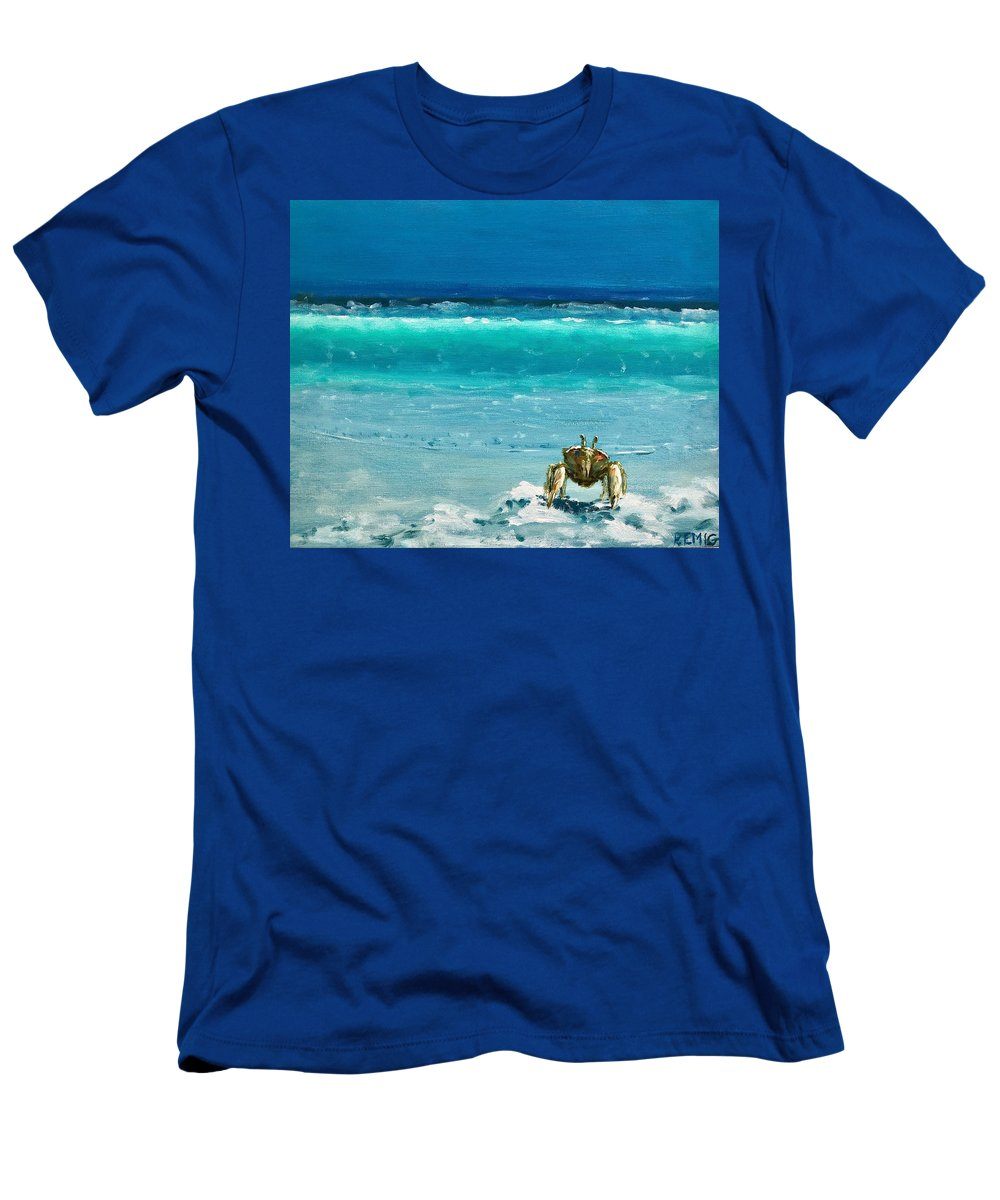 Ghost Crab T-Shirt featuring the painting Ghost Crab by Paul Emig