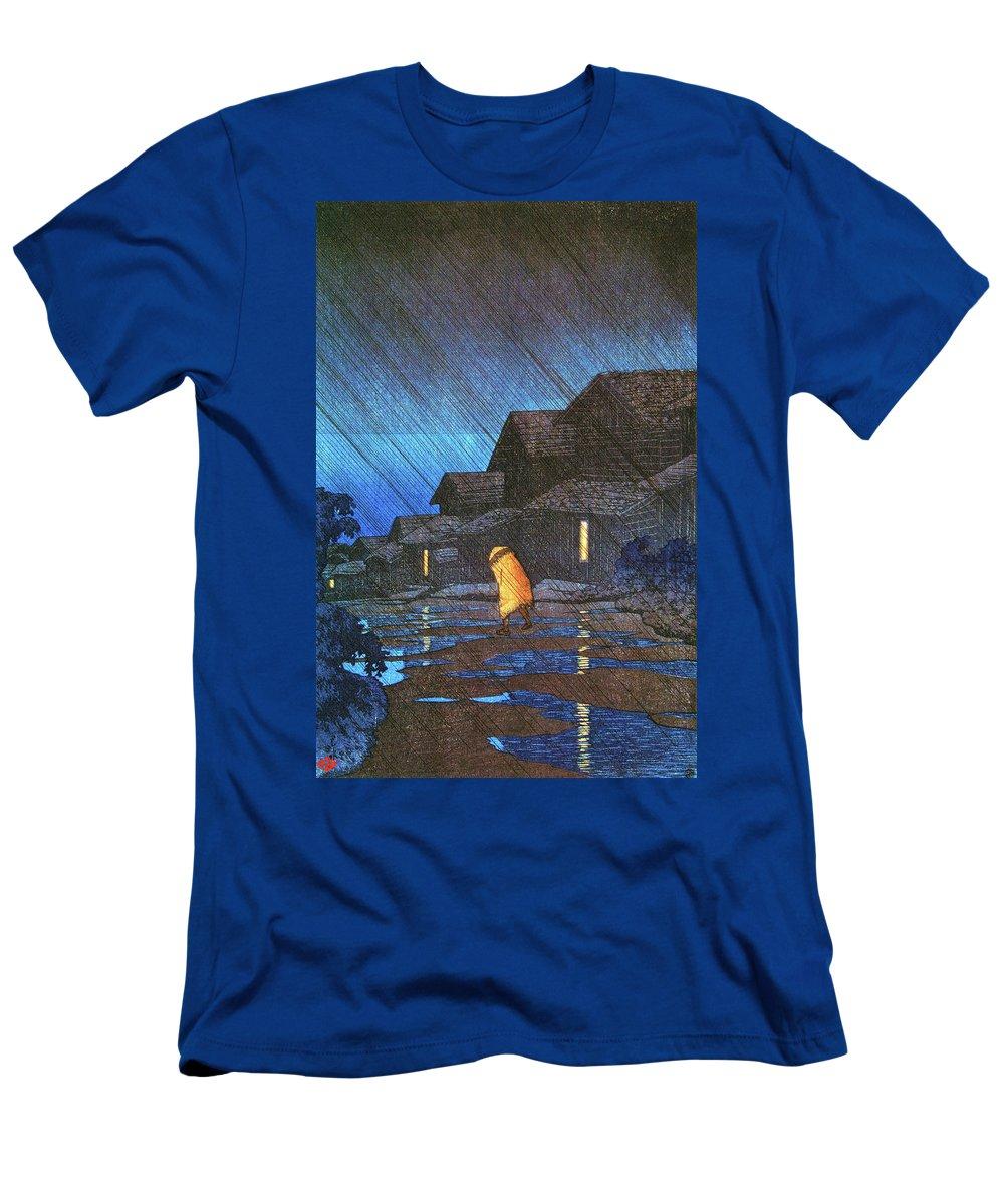 Kawase Hasui T-Shirt featuring the painting Kanazawa Shimohonda town, The series Souvenirs of Travel II - Digital Remastered Edition by Kawase Hasui