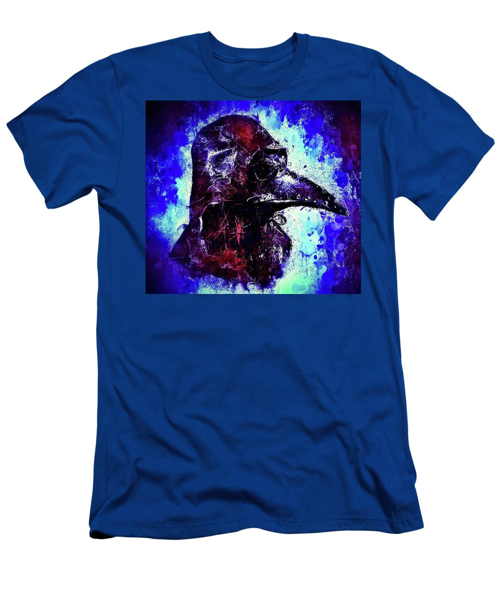 Wall Art Men's T-Shirt (Athletic Fit) featuring the mixed media Plague Mask 3 by Al Matra