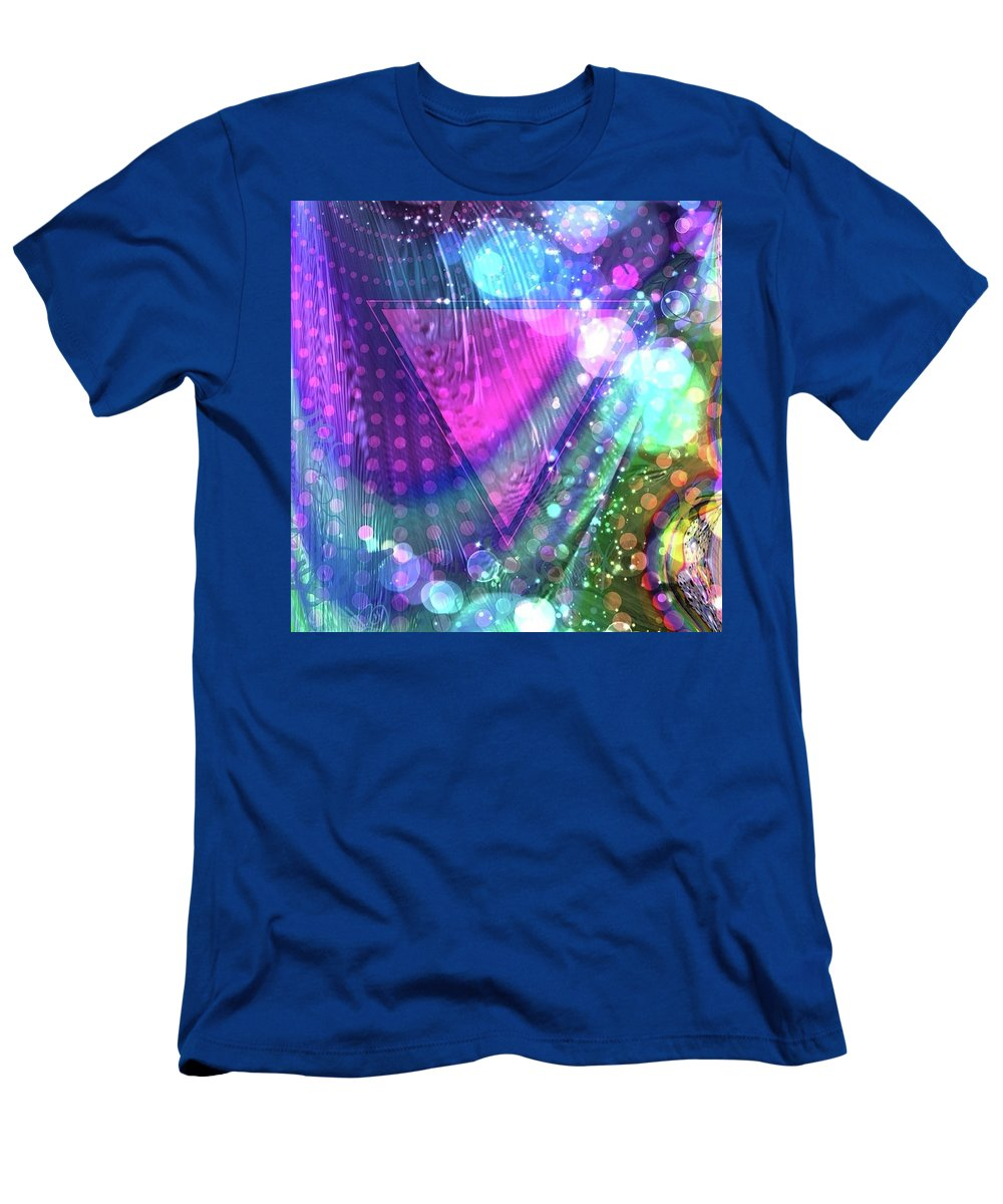 Pink Men's T-Shirt (Athletic Fit) featuring the digital art Pink Triangle Fractal by Cindy Boyd