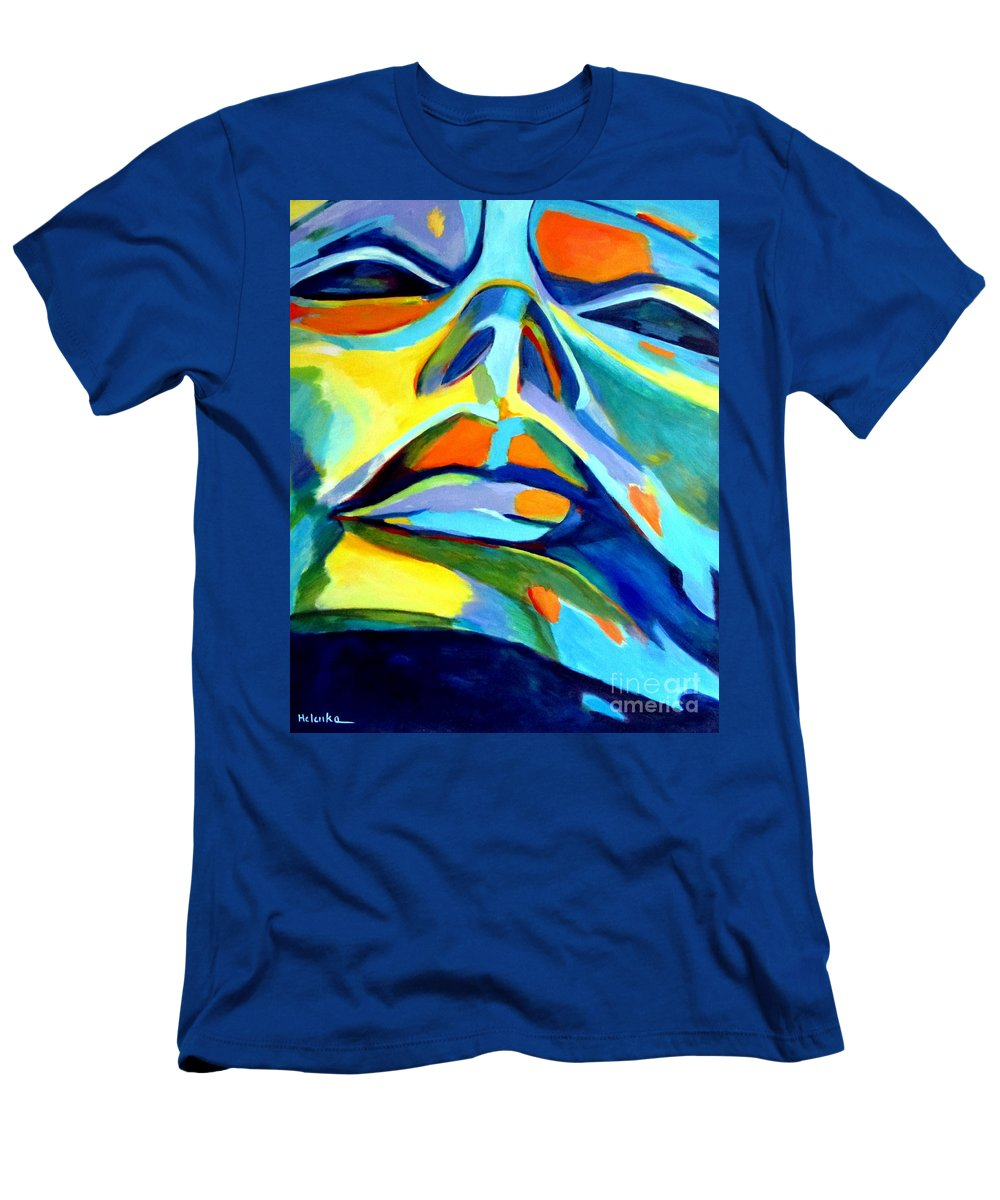 Affordable Original Paintings Men's T-Shirt (Athletic Fit) featuring the painting Speechless Yearning by Helena Wierzbicki