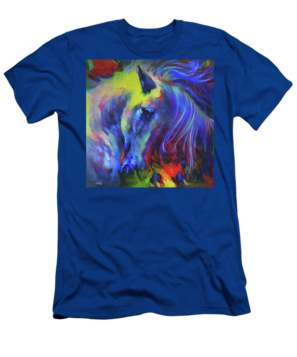 Painted Pony Men's T-Shirt (Athletic Fit) featuring the mixed media The Painted Pony by G Berry