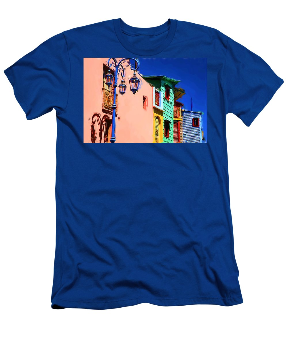 Buenos Aires T-Shirt featuring the mixed media Buenos Aires by Asbjorn Lonvig