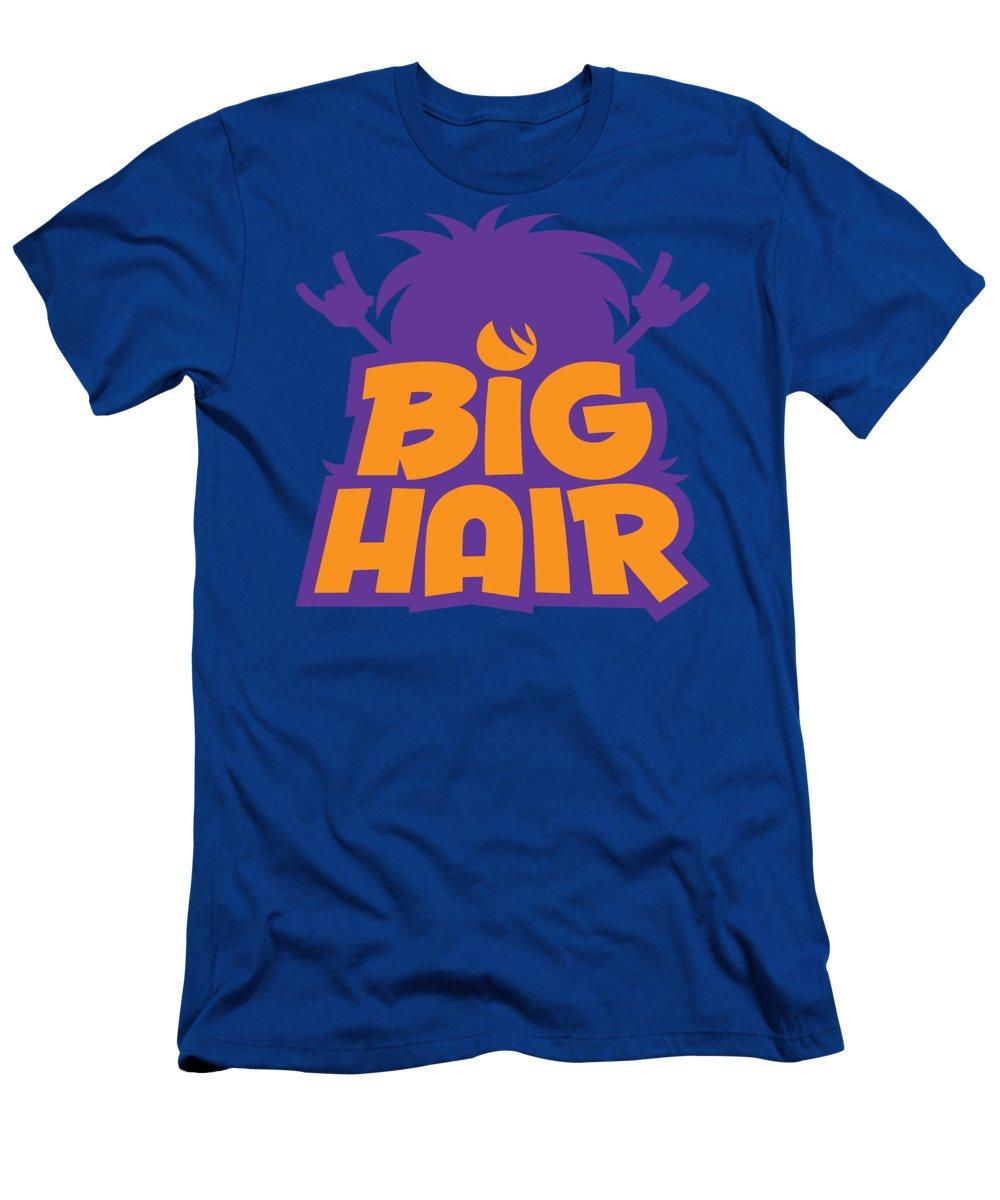 Metal T-Shirt featuring the digital art Big Hair Band Logo by John Schwegel