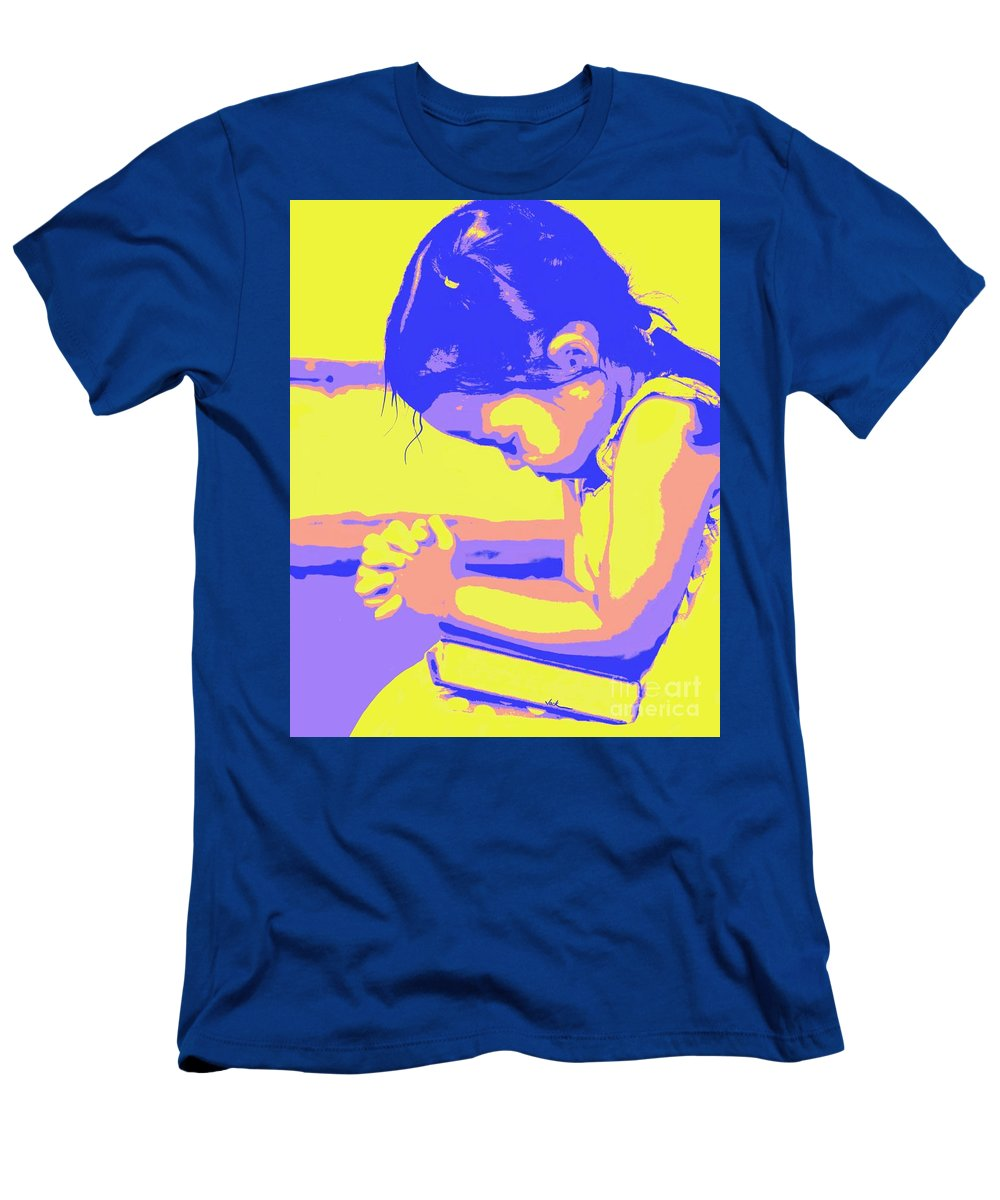 Prayer T-Shirt featuring the painting Child Praying 1 by Jack Bunds