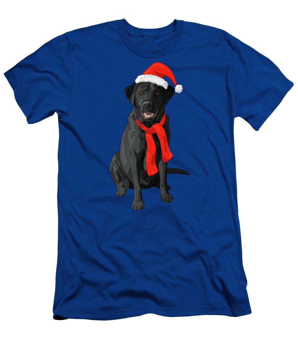 Christmas Dog Black Labrador Retriever T Shirt