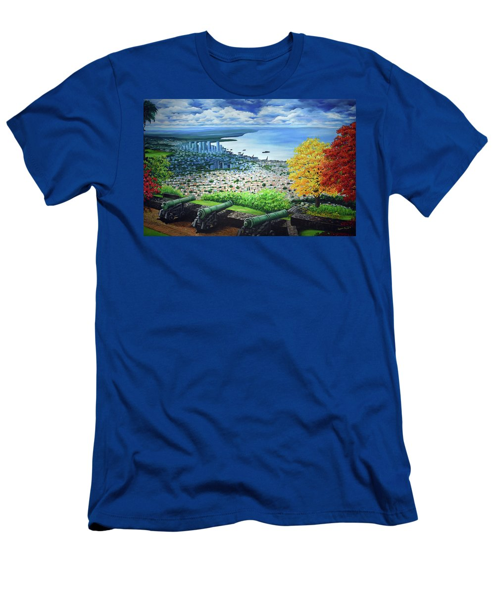 Fort T-Shirt featuring the painting FORT GEORGE  Trinidad by Karin Dawn Kelshall- Best