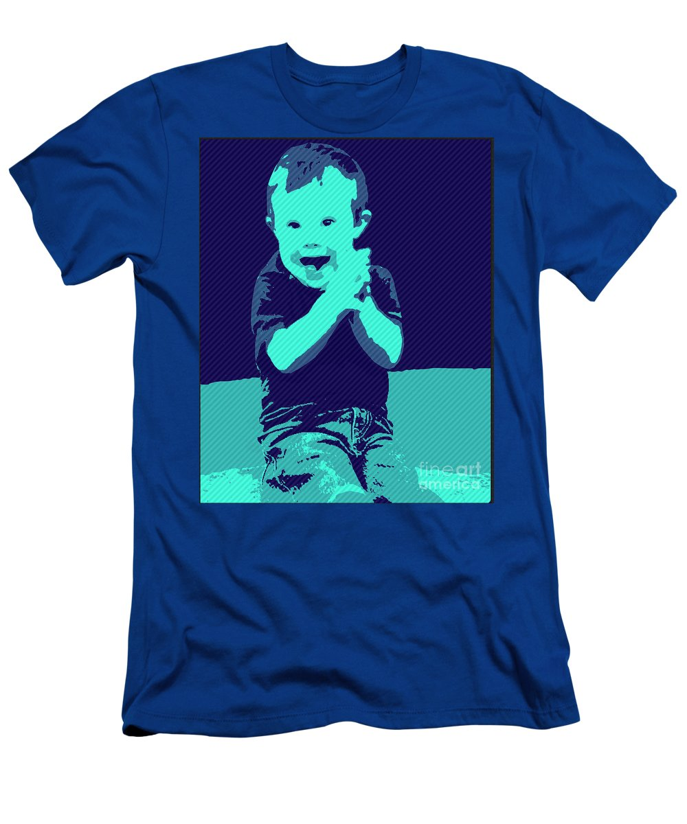 Pray T-Shirt featuring the painting Happy Prayers by Jack Bunds
