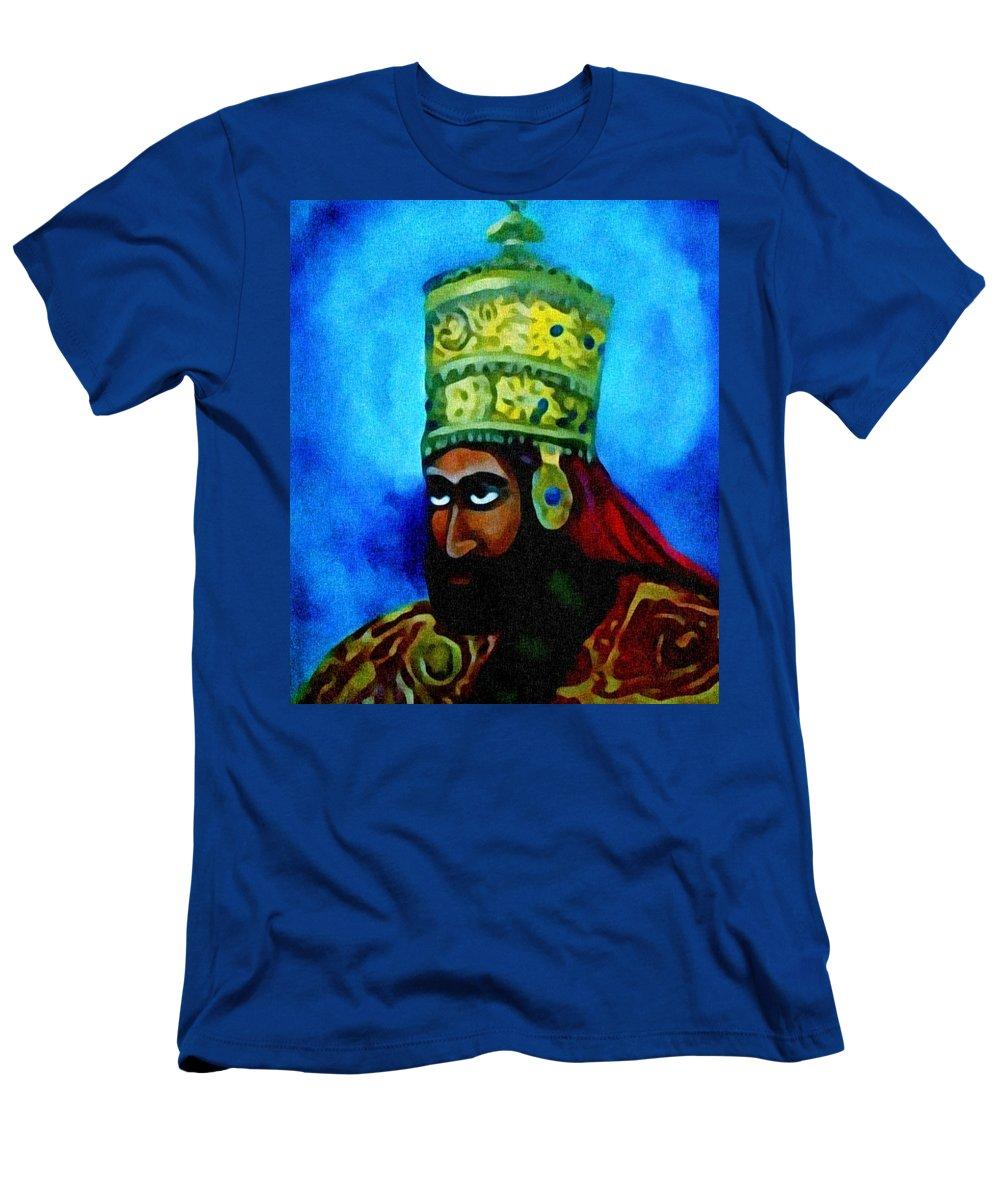 Painting Of Rastafari T-Shirt featuring the painting Rastafari by Andrew Johnson