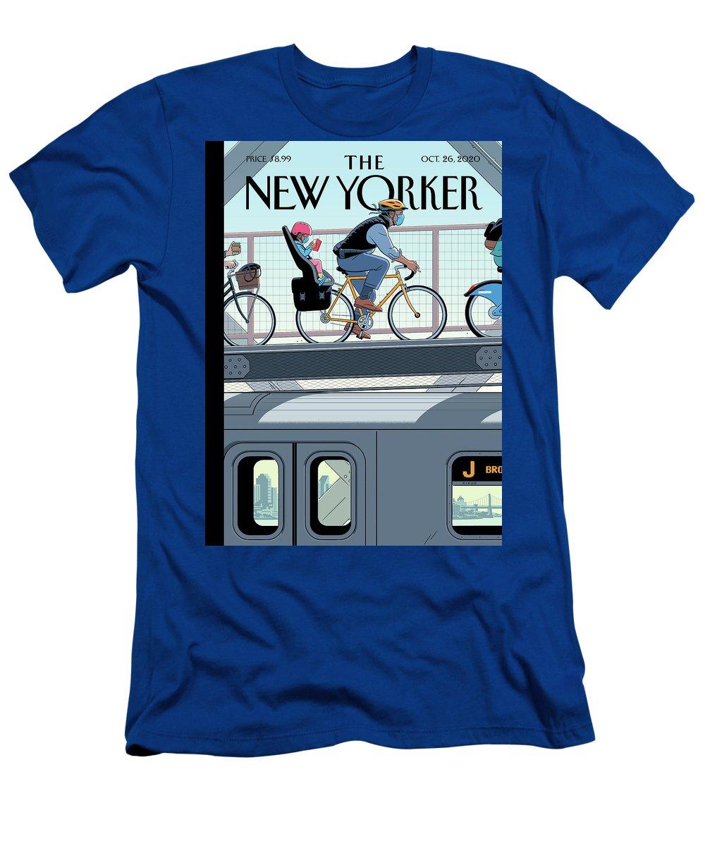 Nyc T-Shirt featuring the digital art Shifting Gears by R Kikuo Johnson