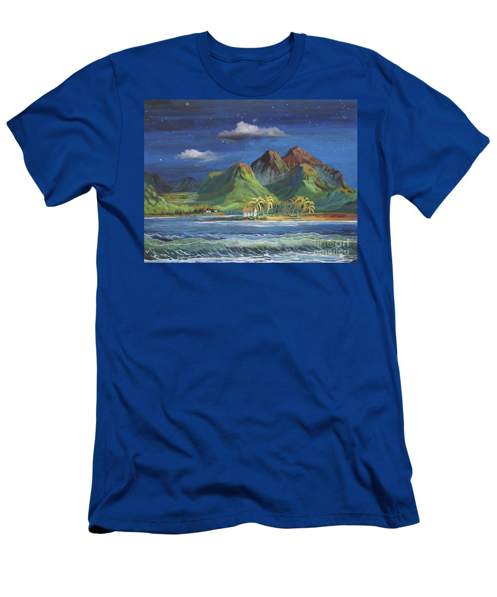 Hawaii T-Shirt featuring the painting Splendor in the Moonlight by Heather Coen