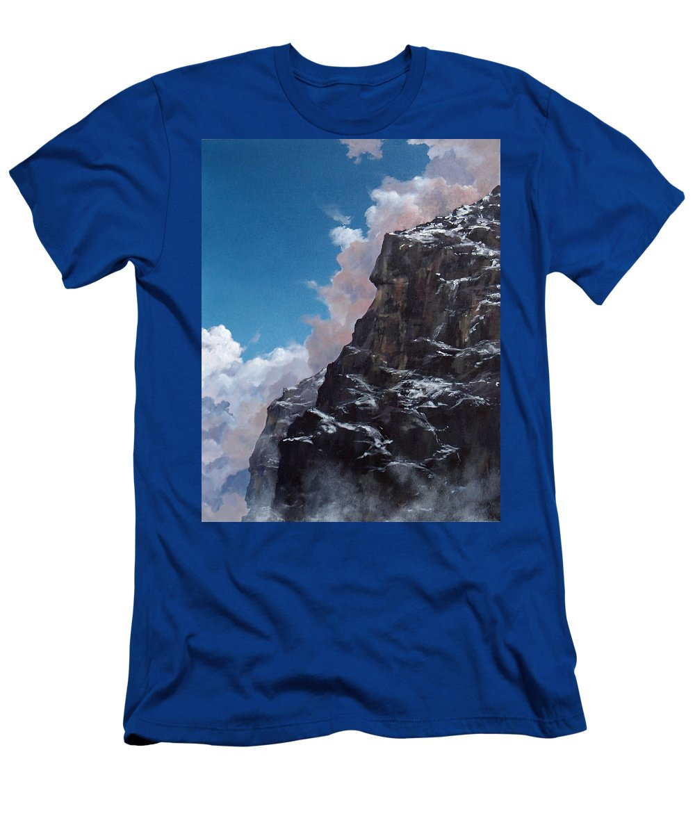 Yosemite T-Shirt featuring the painting Yosemite cliff face by Philip Fleischer