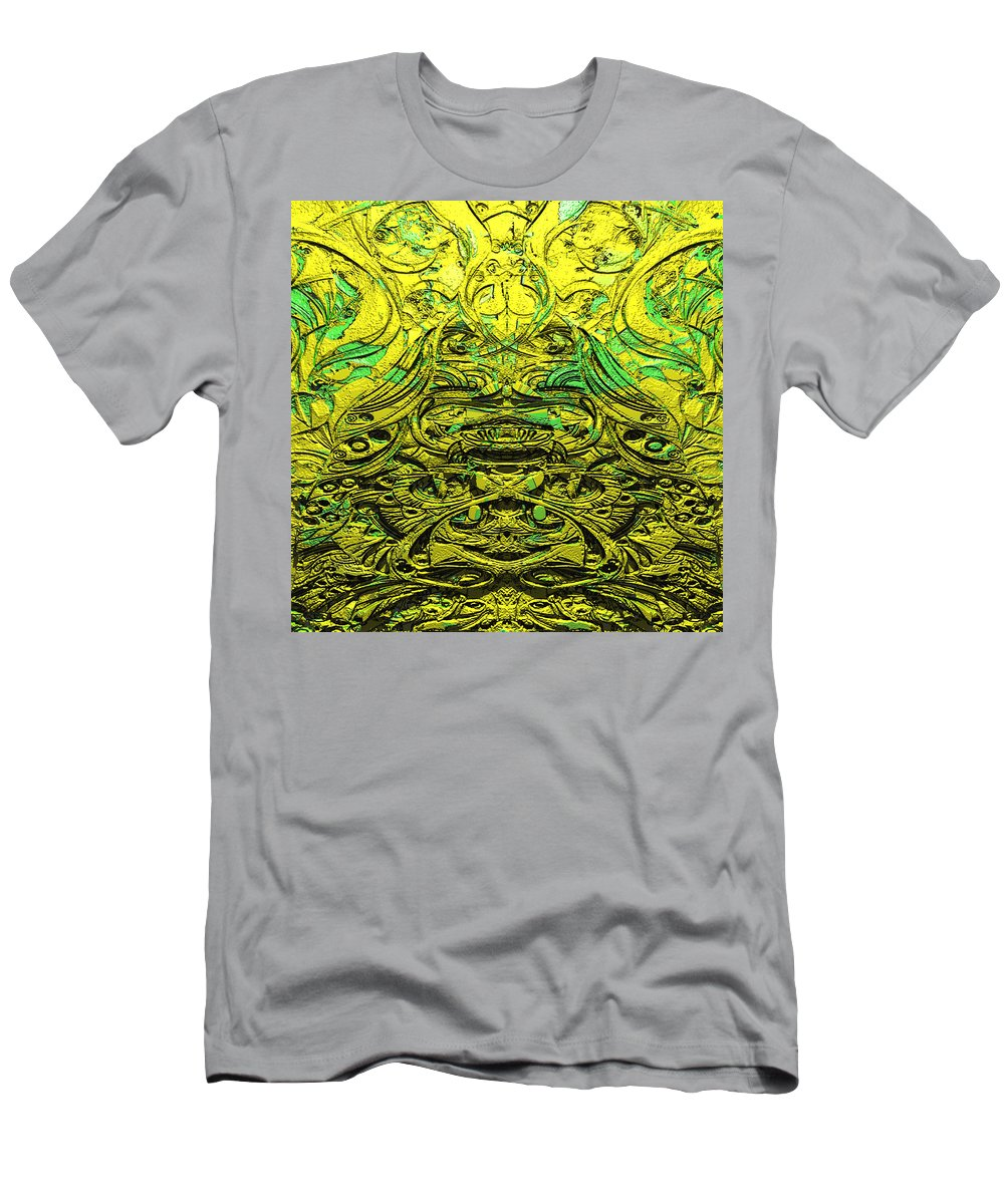 Abstract Men's T-Shirt (Athletic Fit) featuring the digital art Aluminumcoffee 1 by Zac AlleyWalker Lowing