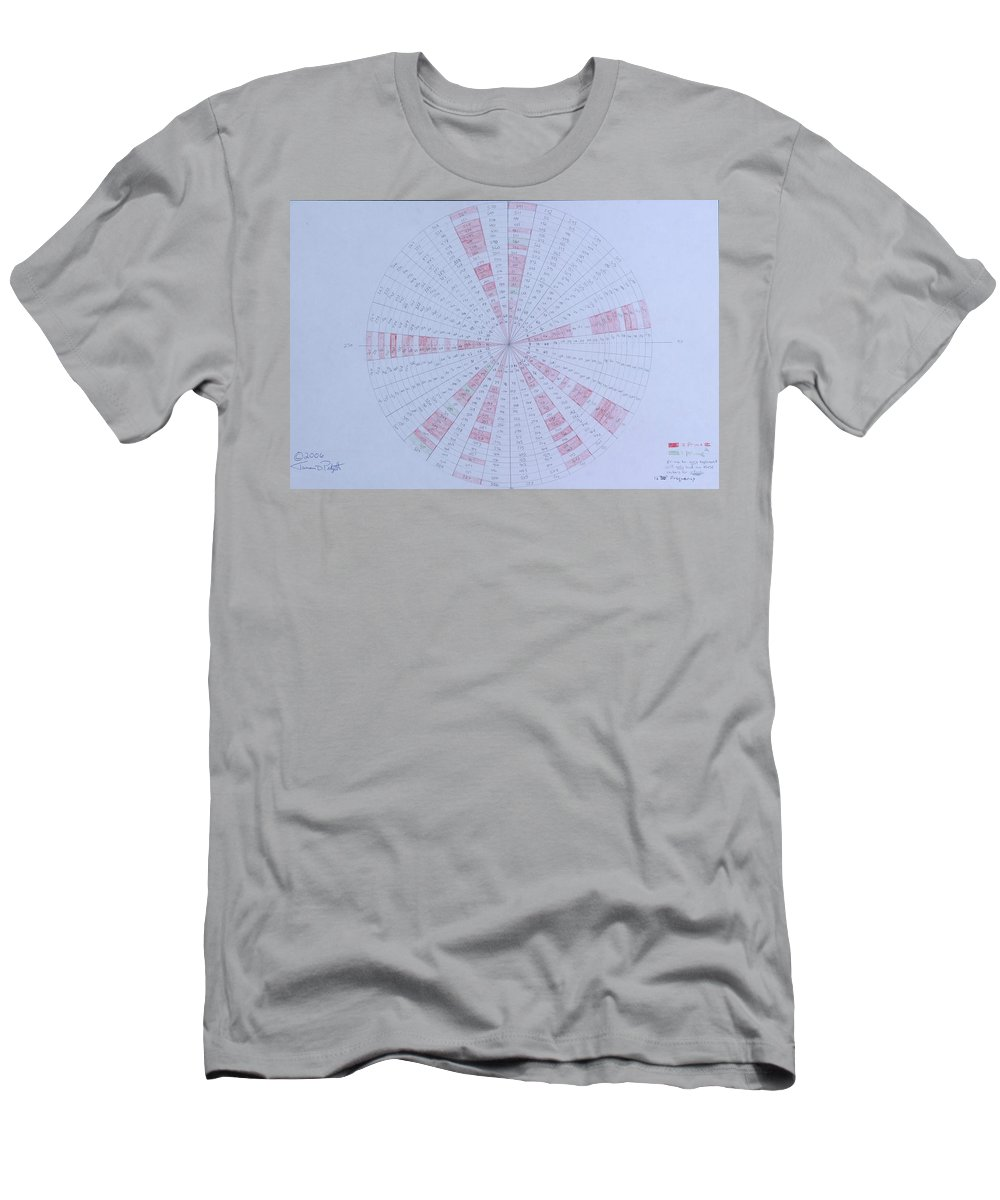 Prime Men's T-Shirt (Athletic Fit) featuring the drawing Prime Number Pattern P Mod 30 by Jason Padgett