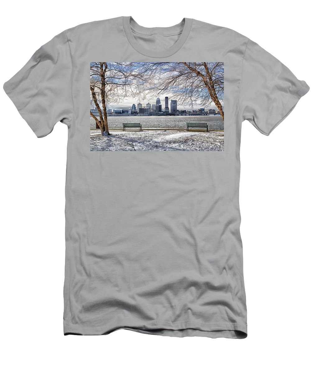 Louisville Kentucky Men's T-Shirt (Athletic Fit) featuring the photograph The Cold by James Guest