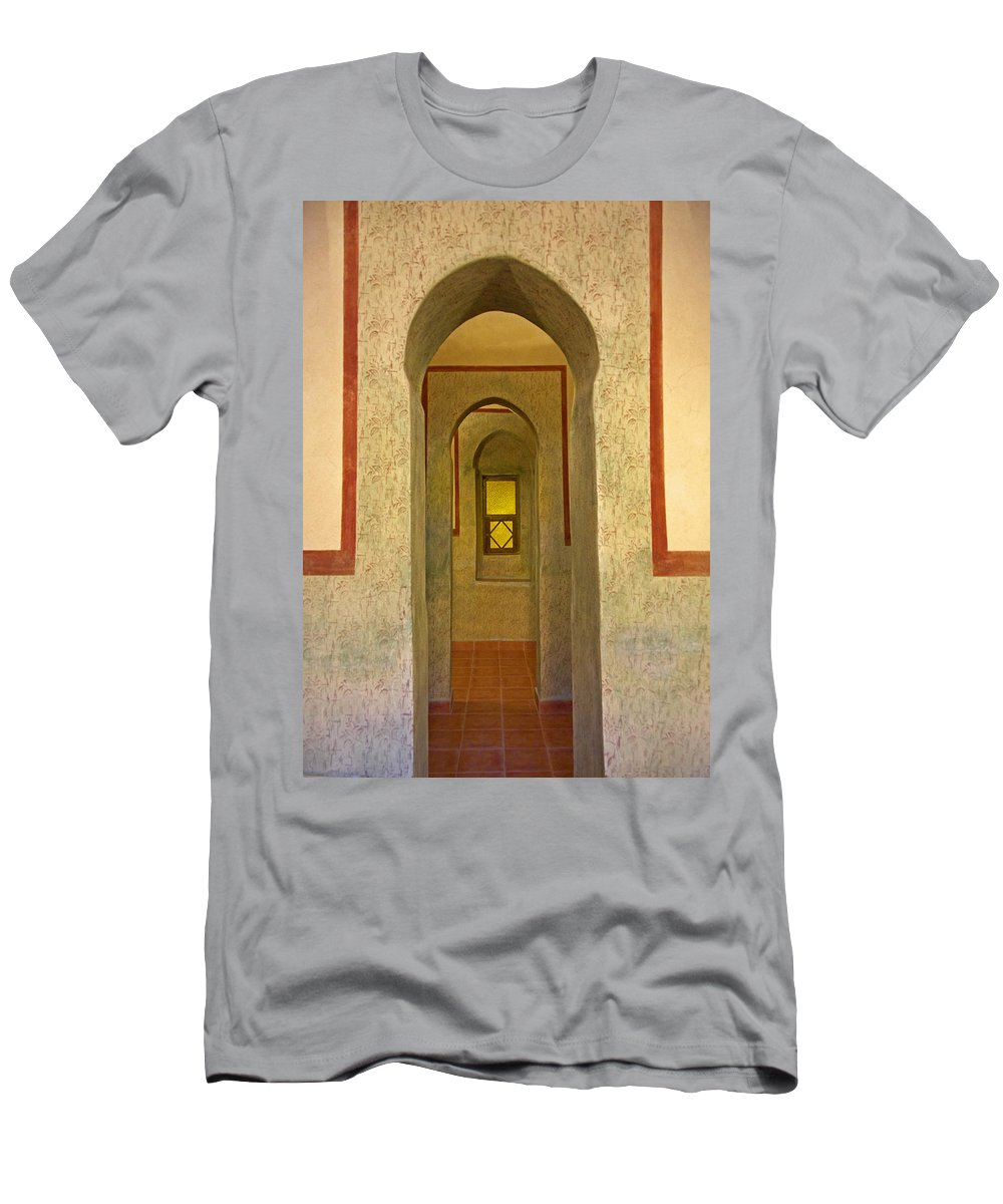 Architecture Men's T-Shirt (Athletic Fit) featuring the photograph View Through The Passage by Claudio Bacinello