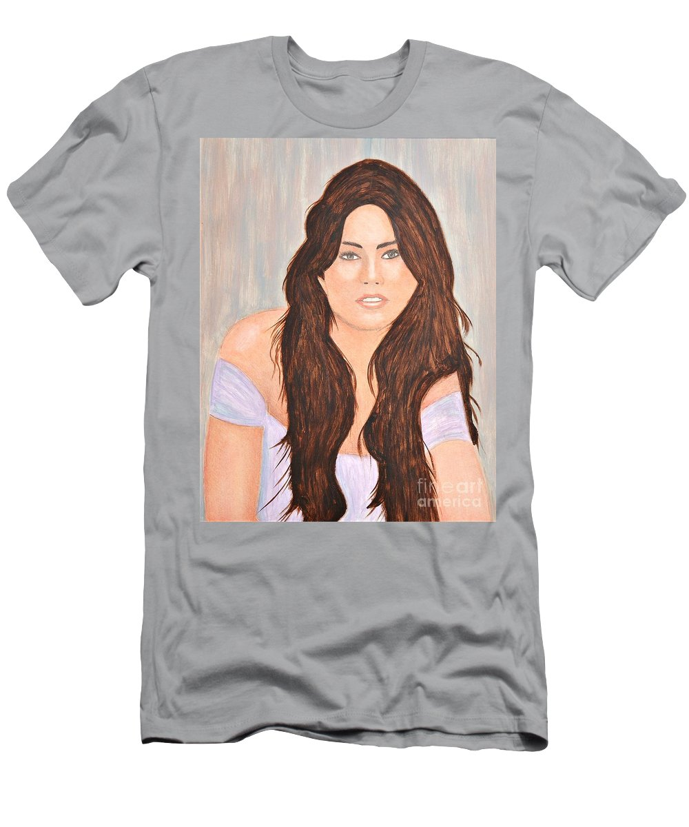 Troni Men's T-Shirt (Athletic Fit) featuring the painting 0006 Jordana by John Grieder