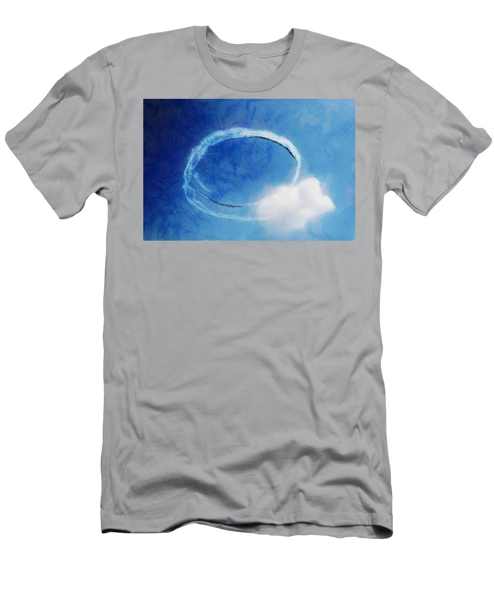 Chicago Men's T-Shirt (Athletic Fit) featuring the digital art 0036 - Air Show - Lux by David Lange
