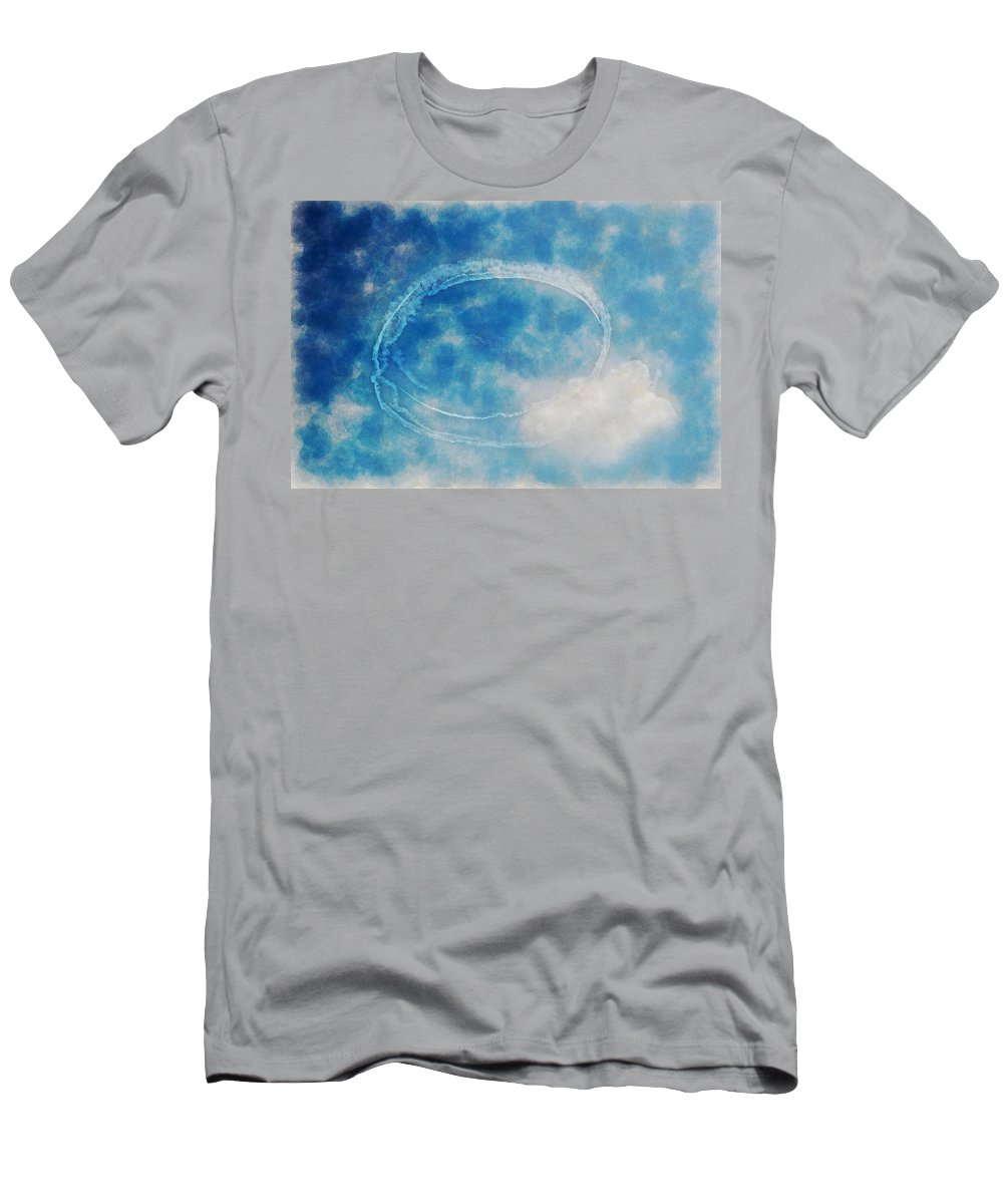Chicago Men's T-Shirt (Athletic Fit) featuring the digital art 0036 - Air Show - Traveling Pigments Hp by David Lange