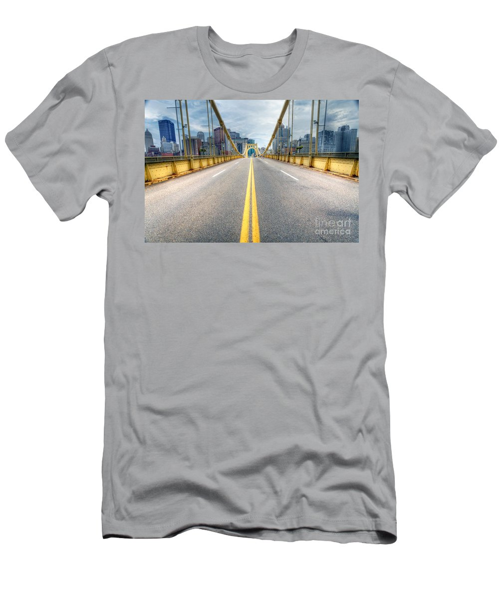 Pittsburgh Men's T-Shirt (Athletic Fit) featuring the photograph 0306 Pittsburgh 9 by Steve Sturgill