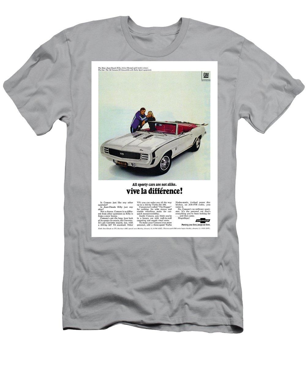 a5672e85 Vive Men's T-Shirt (Athletic Fit) featuring the digital art 1969 Chevrolet  Camaro