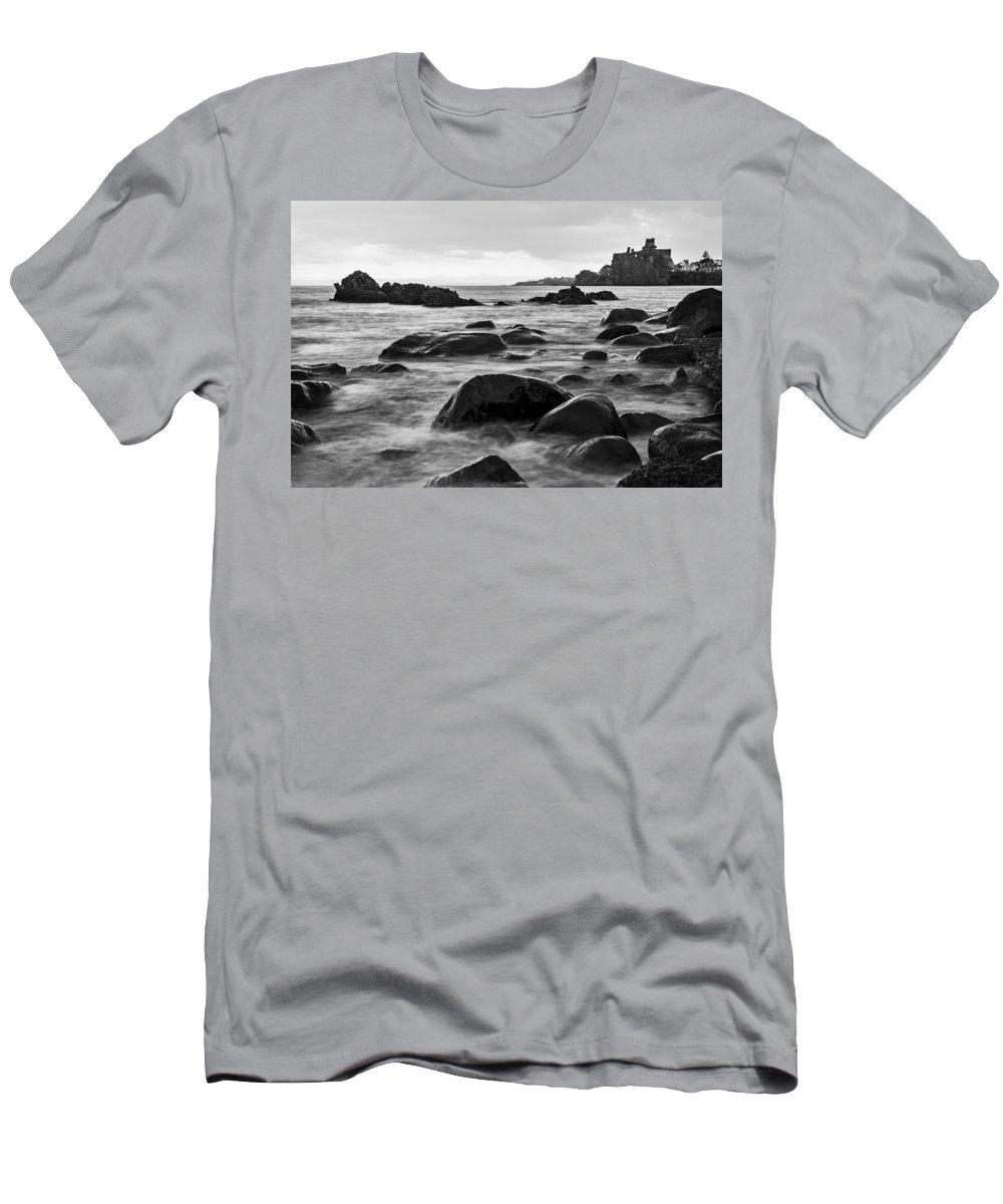 Sea Men's T-Shirt (Athletic Fit) featuring the photograph Acicastello by Alfio Finocchiaro