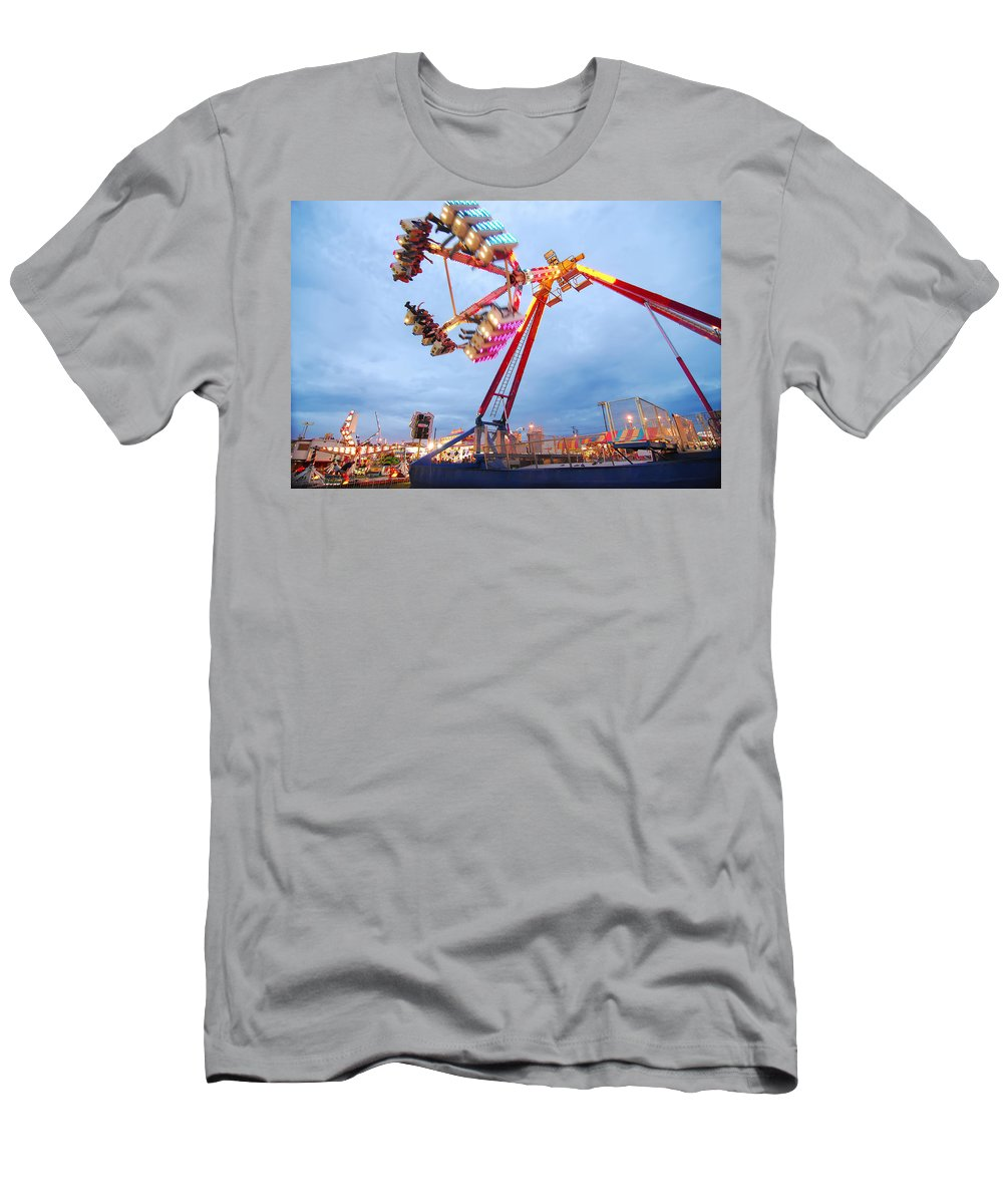 Colors Men's T-Shirt (Athletic Fit) featuring the photograph At The Fair by Alex Grichenko