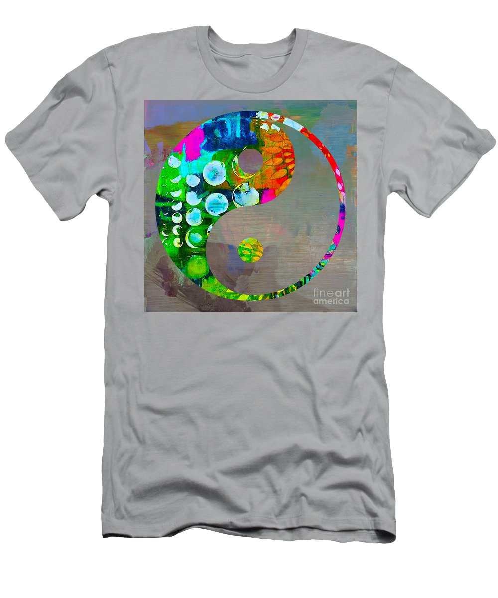 Namaste Paintings Men's T-Shirt (Athletic Fit) featuring the mixed media Balance by Marvin Blaine