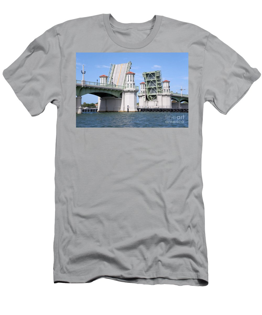 Florida Men's T-Shirt (Athletic Fit) featuring the photograph Bridge Of Lions St Augustine Florida by Bill Cobb