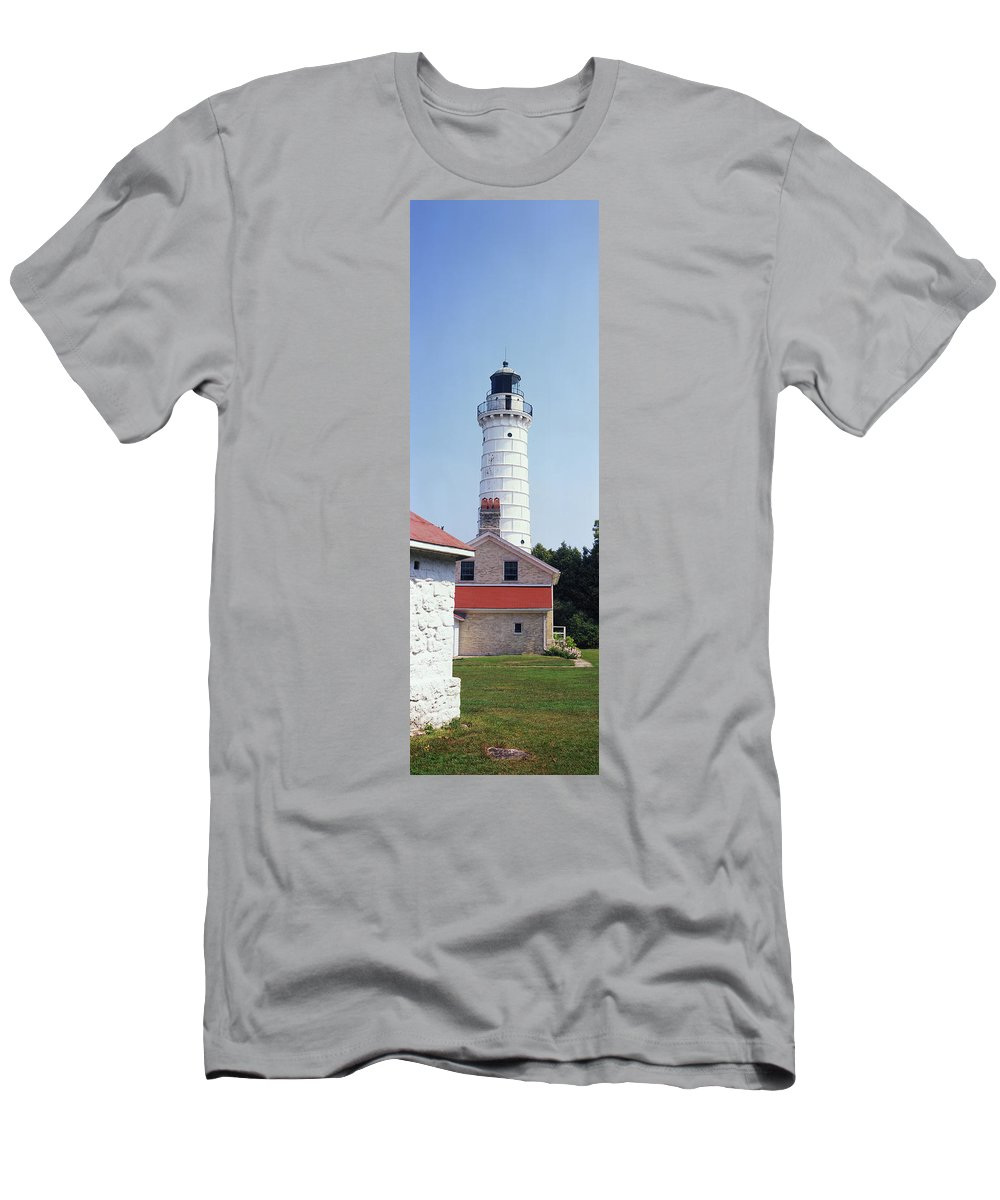 Photography T-Shirt featuring the photograph Cana Island Lighthouse, Baileys Harbor by Panoramic Images